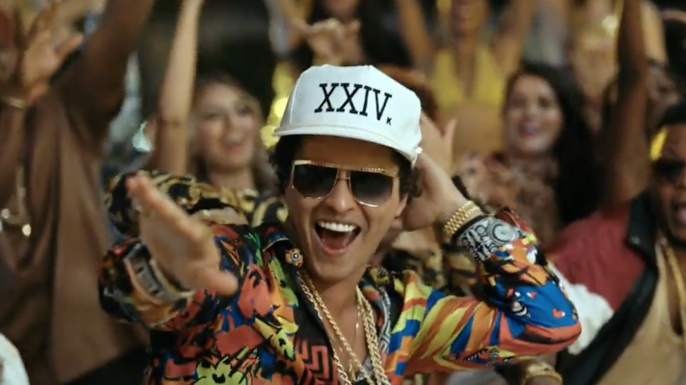 "Watch Bruno Mars Party in His New Video For ""24K Magic"""